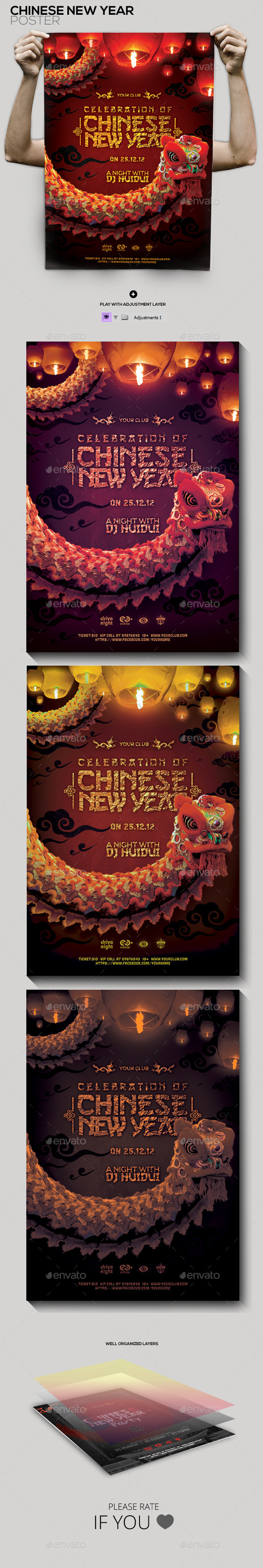 Chinese New Year Celebration Flyer/Poster - Holidays Events
