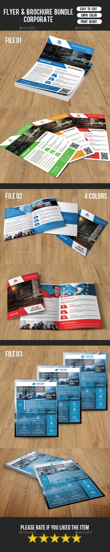 Brochure and Flyer Bundle-V04 - Corporate Brochures