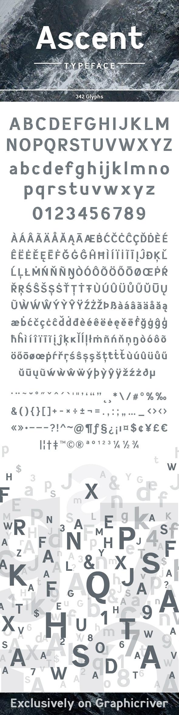Ascent Typeface - Sans-Serif Fonts
