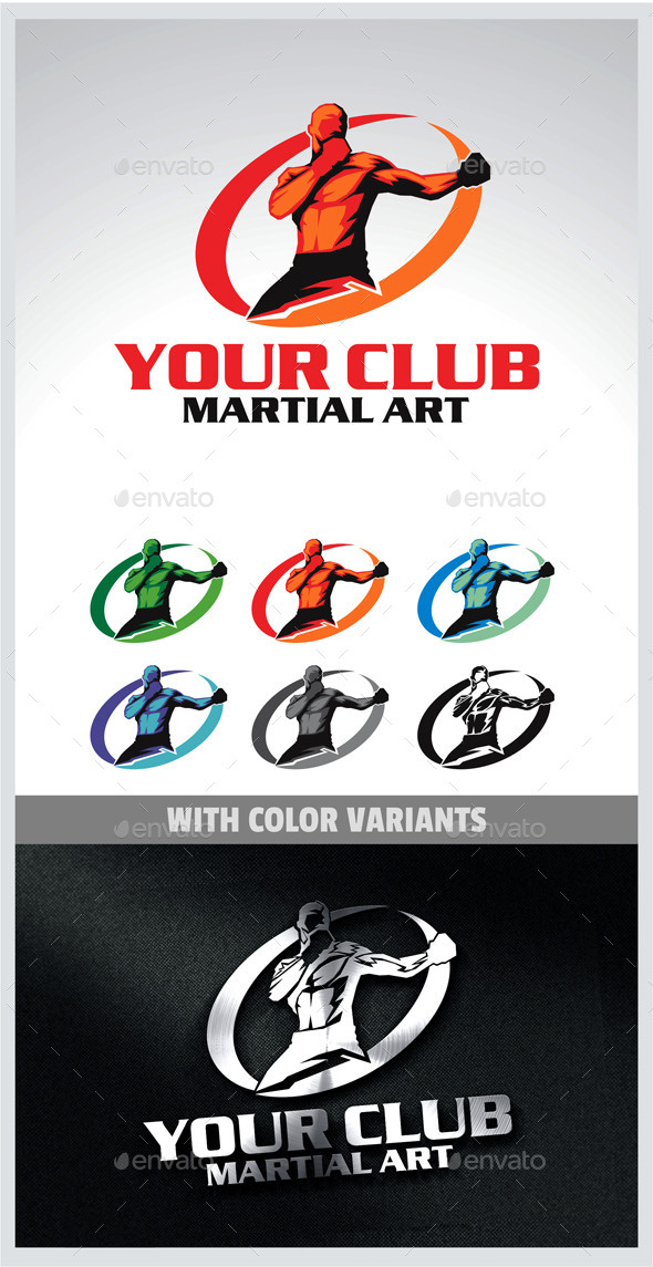 Martial Arts Logo - Humans Logo Templates