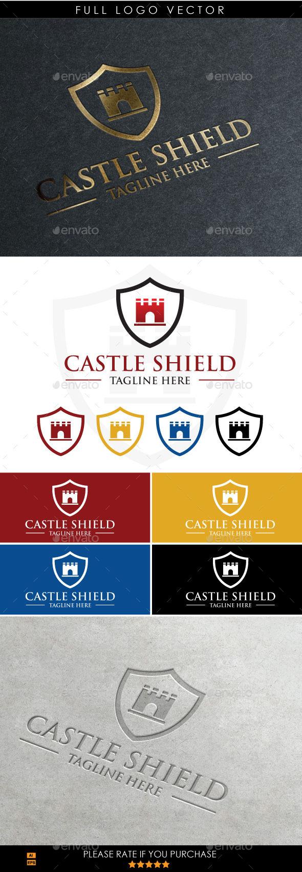 Castle Shield - Symbols Logo Templates