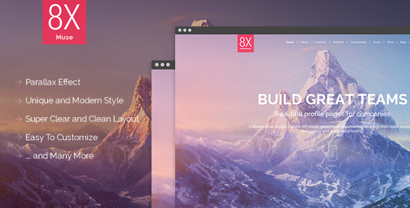 8X – Creative Multi-Purpose Muse Template