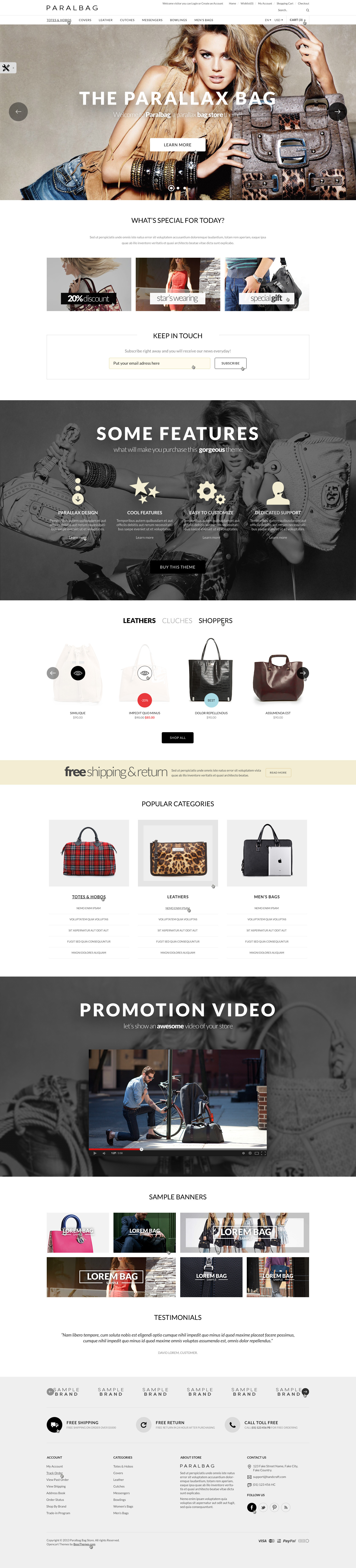 Opencart Fashion Bag Store - Parallax by tvlgiao | ThemeForest