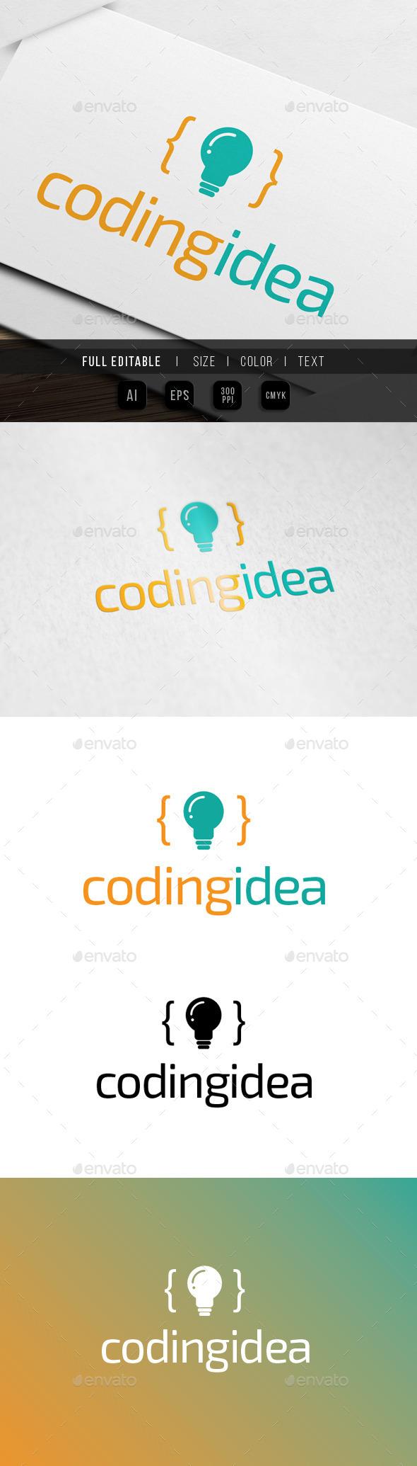 Coding Idea logo - Abstract Logo Templates