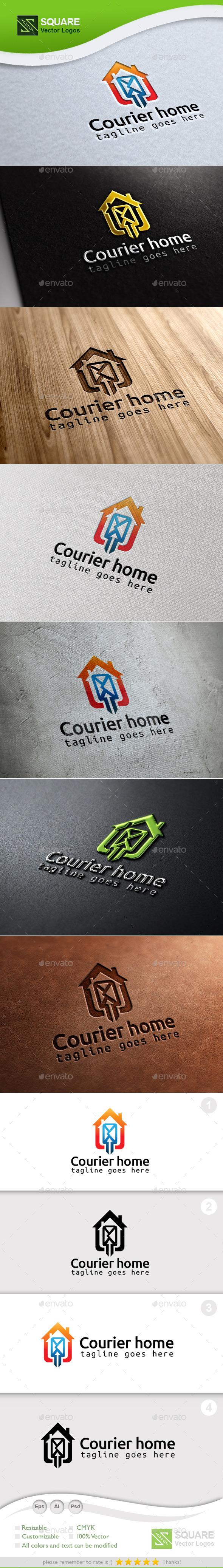 Courier Spot Custom Logo Template - Symbols Logo Templates