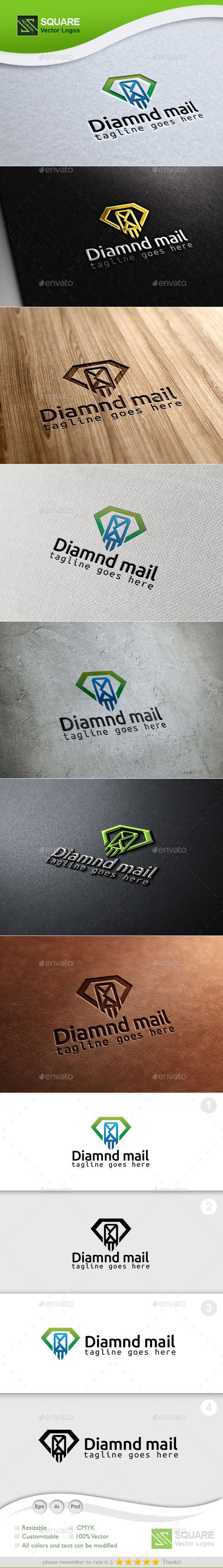 Diamond Mail Custom Logo Template - Symbols Logo Templates