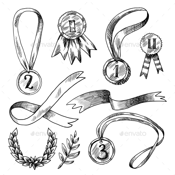 Award Decorative Icons Set  - Decorative Symbols Decorative