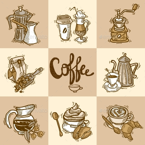 Coffee Decorative Set - Icons