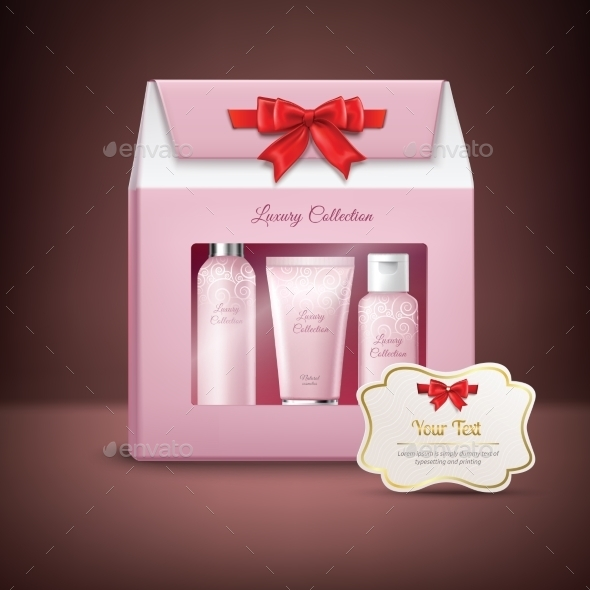 Cosmetics Gift Box - Objects Vectors