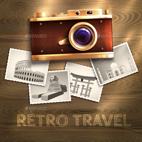 Retro Camera Background - Technology Conceptual