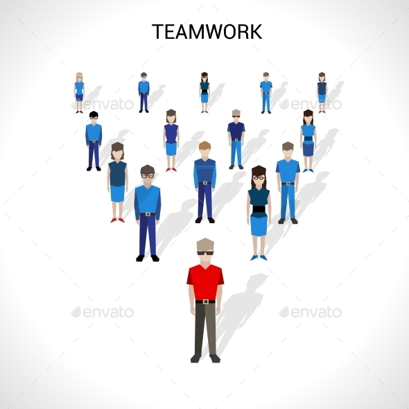Teamwork Concept Illustration - People Characters