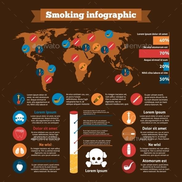 Smoking Infographics Set - Miscellaneous Vectors