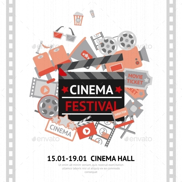 Cinema Festival Poster - Backgrounds Decorative