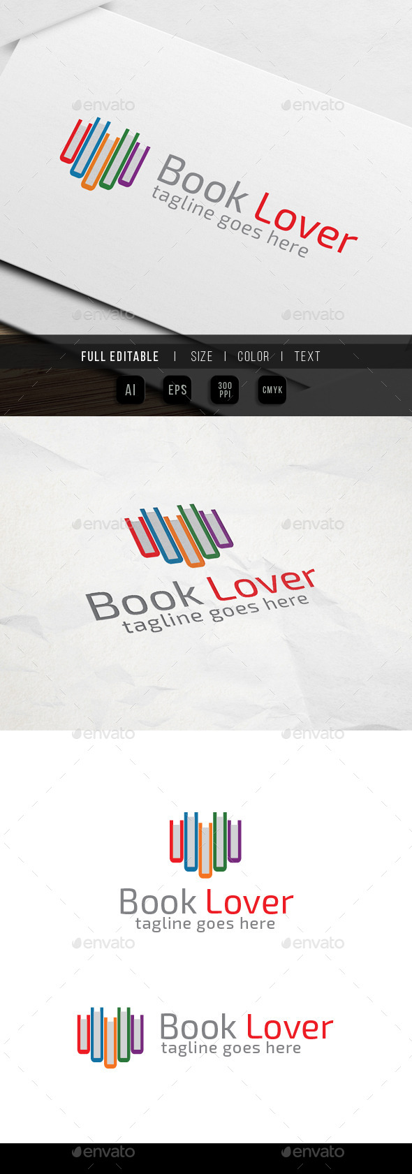 Book Lover Logo - Abstract Logo Templates