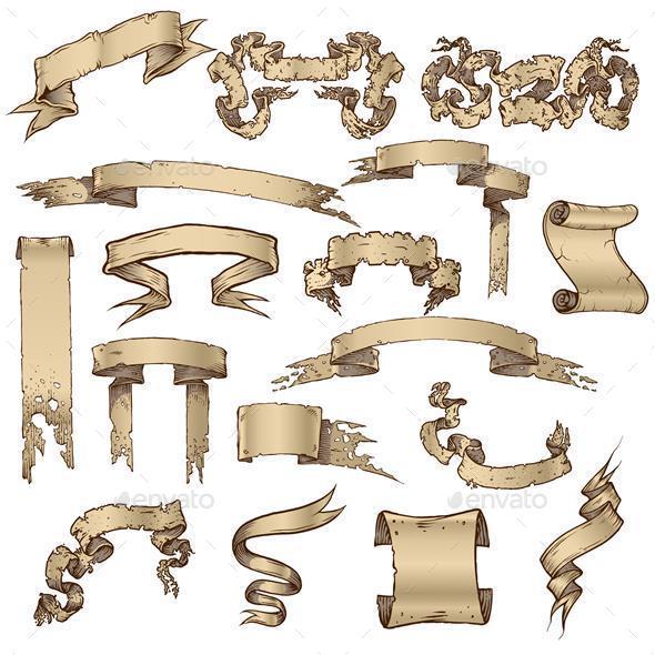 Ribbon Collection - Decorative Symbols Decorative
