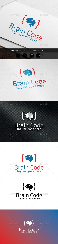 Smart Genius Brain Code - Abstract Logo Templates