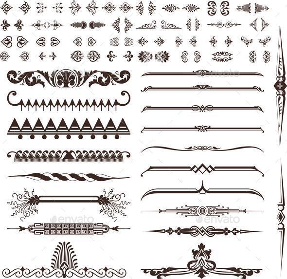 Vintage Ornaments and Designs - Decorative Symbols Decorative