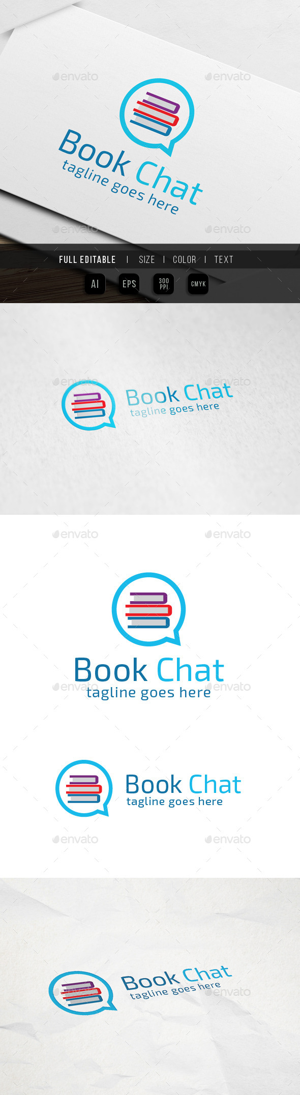 Book Chat Logo - Objects Logo Templates
