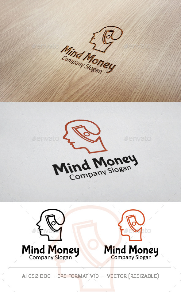 Money Mind Logo - Humans Logo Templates