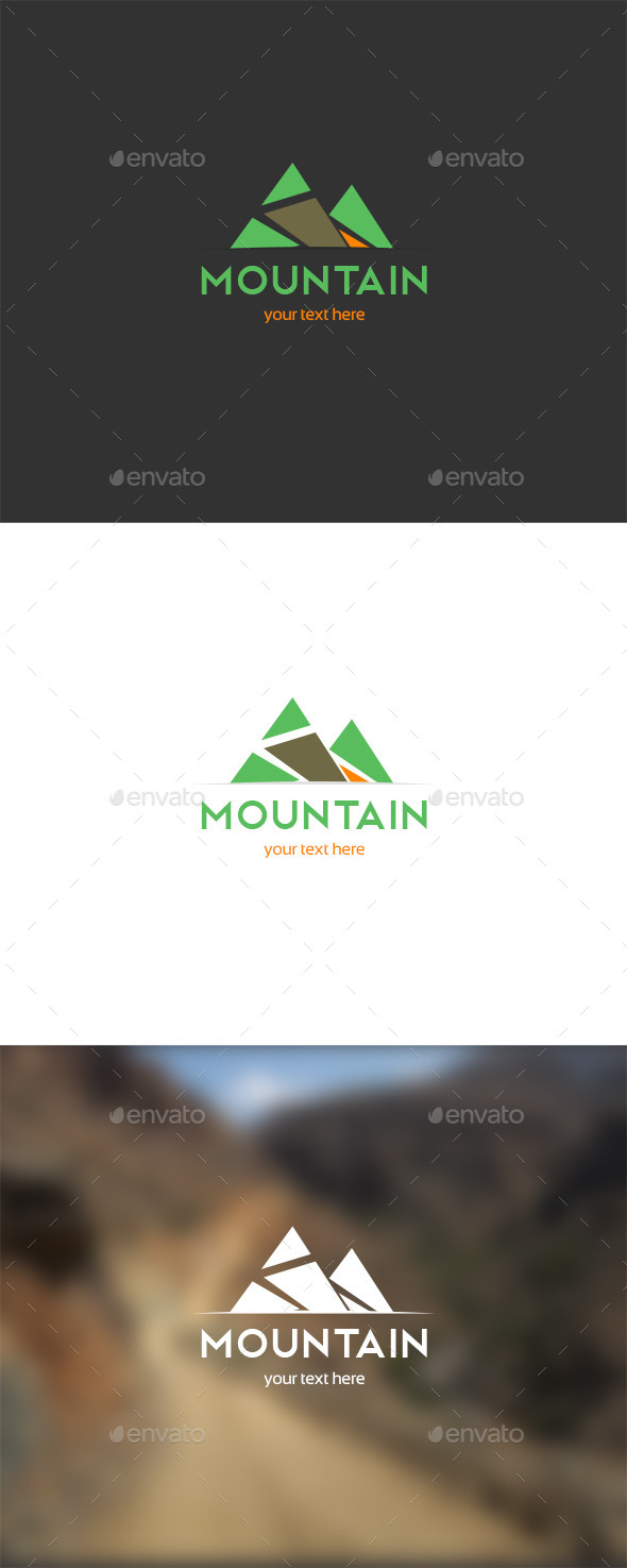 Mountain Trial Logo - Nature Logo Templates