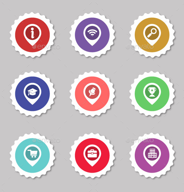 Vector Icon Stickers    - Web Icons