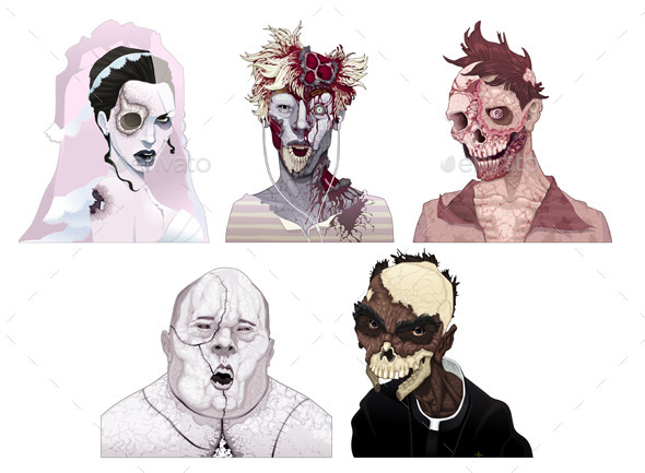 Zombie Portraits - Monsters Characters
