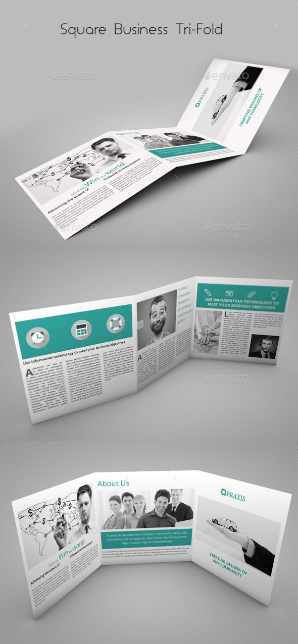 Square Business Tri-Fold - Brochures Print Templates
