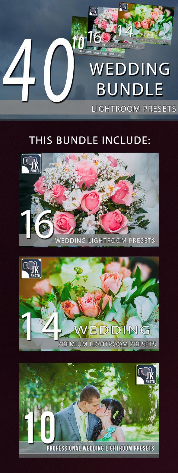 40 Wedding LightRoom Presets Bundle - Wedding Lightroom Presets