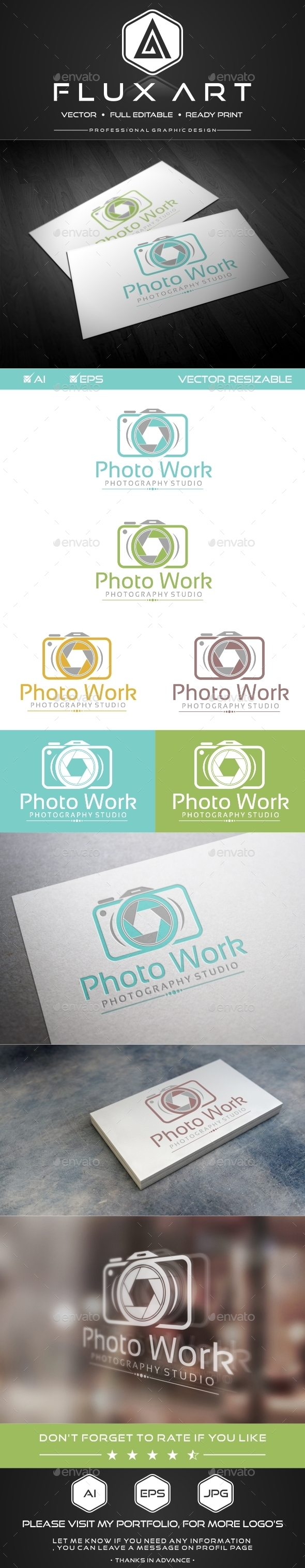 Photography Studio Logo - Abstract Logo Templates