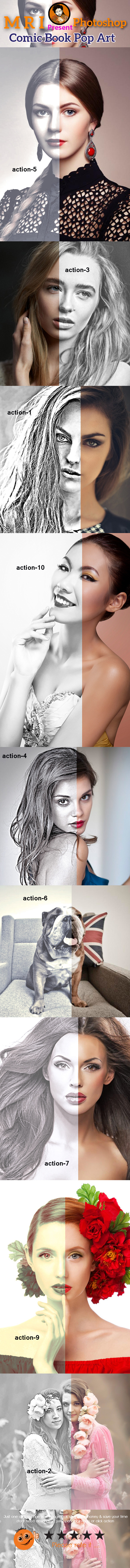 B&W HDR Action - Actions Photoshop