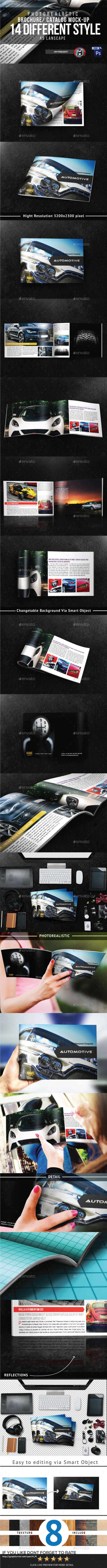 14 lanscape Brochure Mock-Ups - Brochures Print