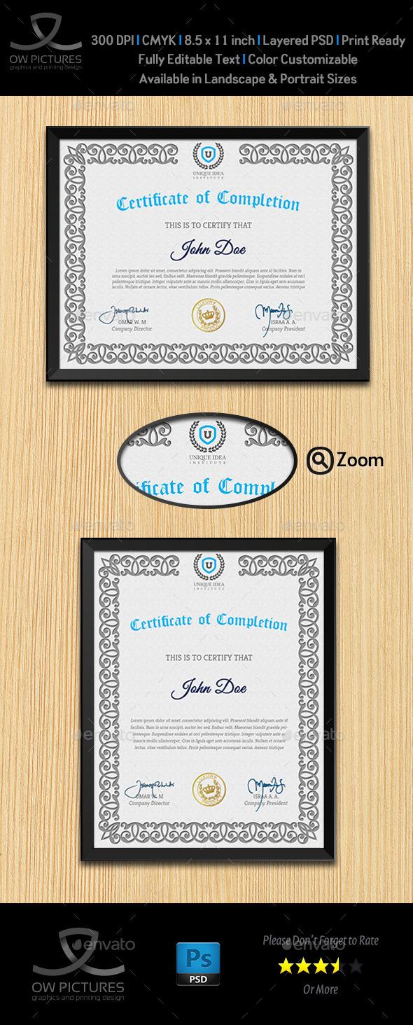 Multi Purpose Certificates Template Vol.2 - Certificates Stationery