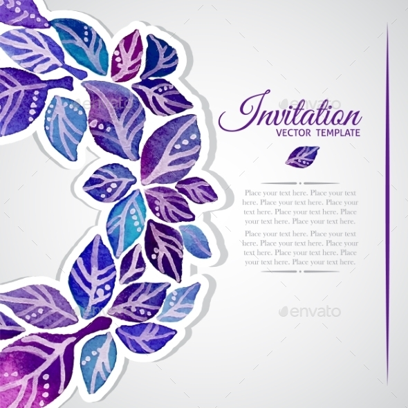 Floral Invitation Card. - Flowers & Plants Nature