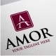 Amor Logo • A Letter Logo Template - GraphicRiver Item for Sale