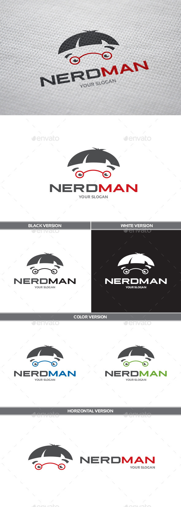 NerdMan Logo - Humans Logo Templates