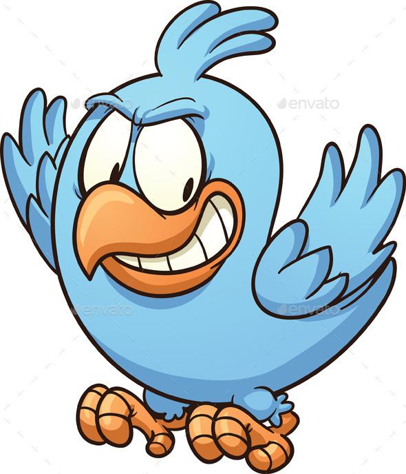 Evil Blue Bird - Animals Characters