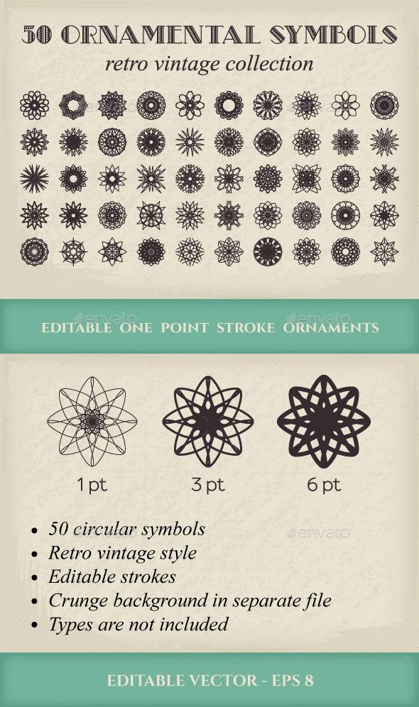 50 Vector Ornamental Symbols - Decorative Symbols Decorative