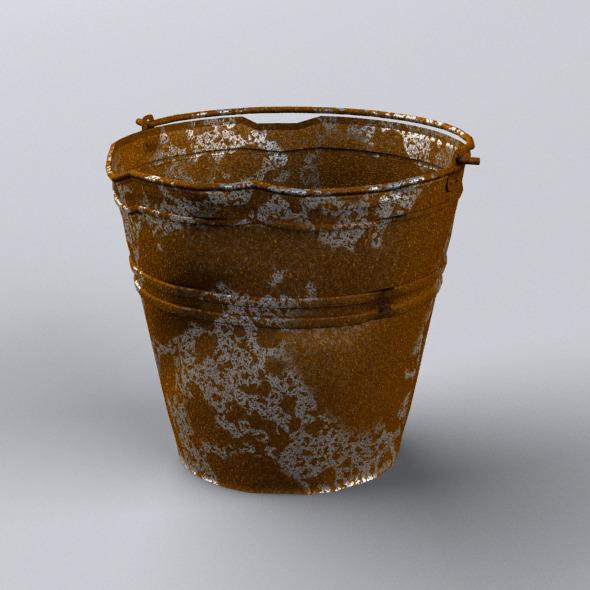 Crumpled Bucket - 3DOcean Item for Sale