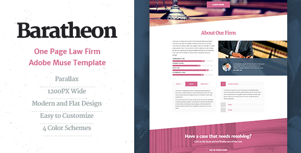 Baratheon – One Page Law Firm MUSE Template