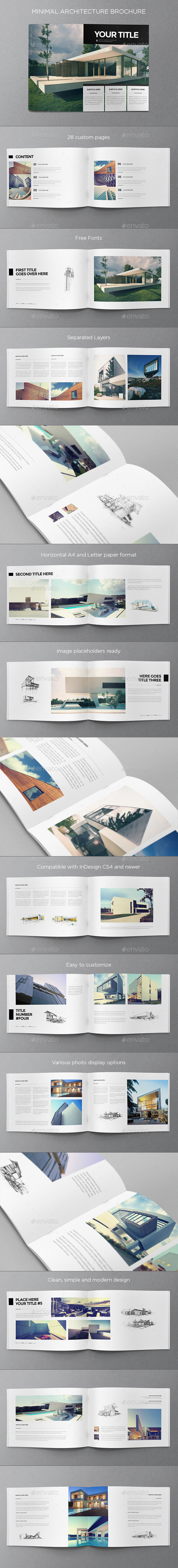 Minimal Architecture Brochure - Brochures Print Templates