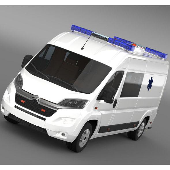 Citroen Jumper Ambulance 2015 - 3DOcean Item for Sale