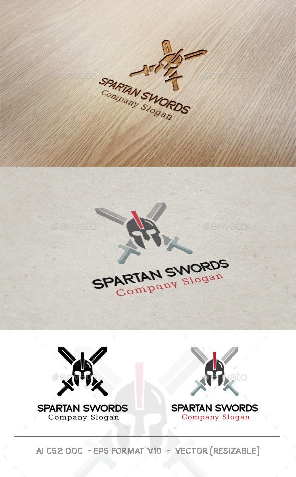 Spartan Swords Logo - Objects Logo Templates