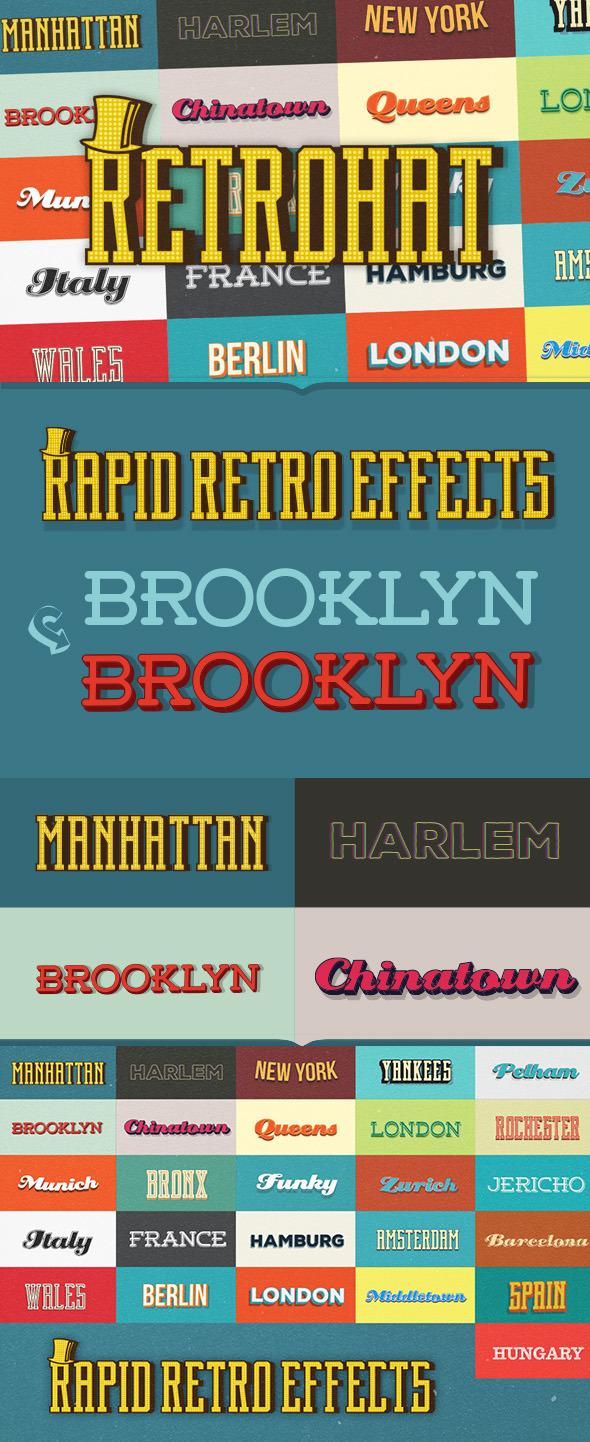 Retrohat Graphic Styles - Styles Illustrator