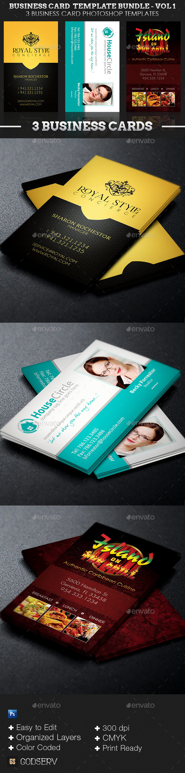Business Card Template Bundle - Volume 1 - Industry Specific Business Cards