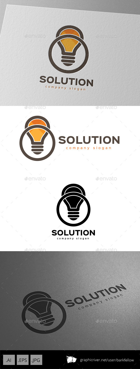 Smart Solution Idea Logo Design - Symbols Logo Templates