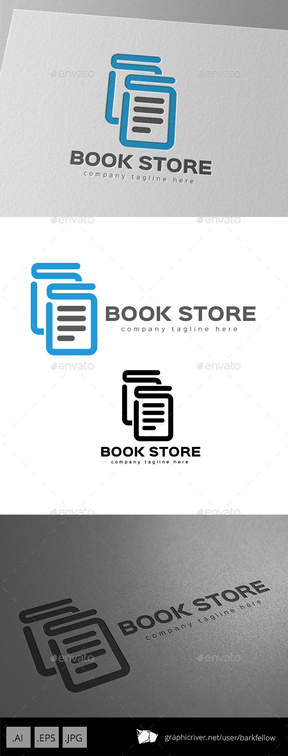 Book Store Logo Design - Objects Logo Templates
