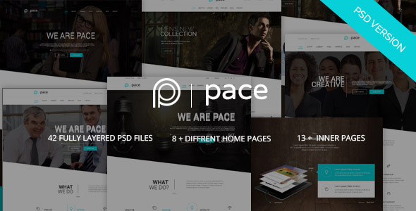 Pace – Multi-Purpose Business PSD Template - Business Corporate