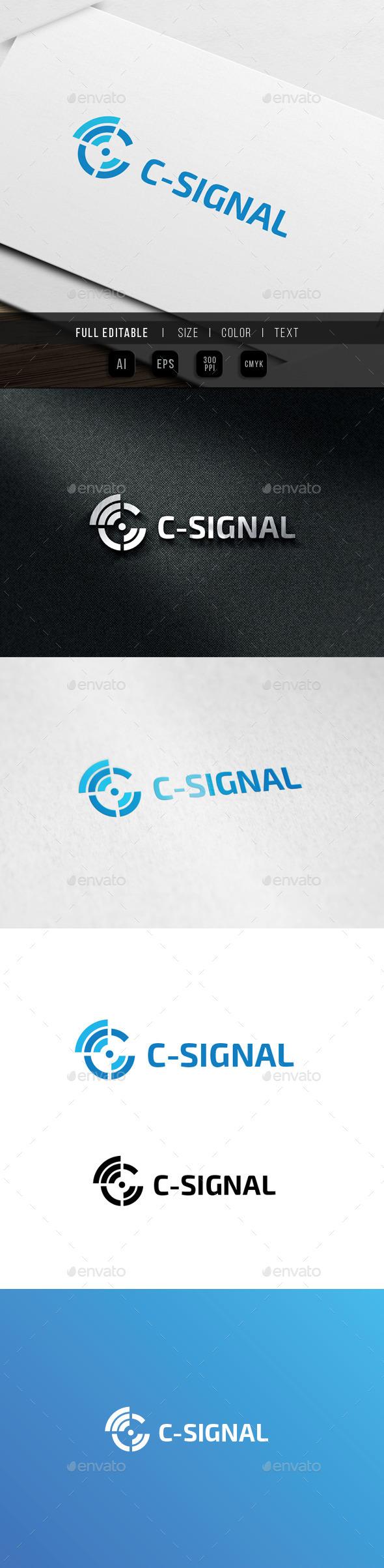 Signal - Letter C - Letters Logo Templates