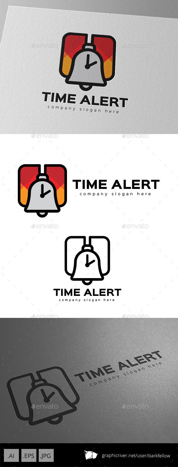 Time Alert Alarm Logo Design - Symbols Logo Templates
