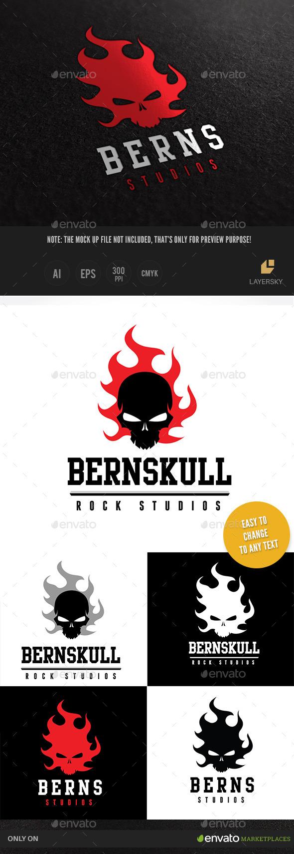 Burn Skull - Crests Logo Templates
